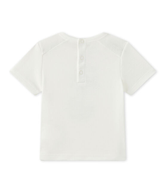 T-shirt bébé garçon manches courtes blanc Marshmallow