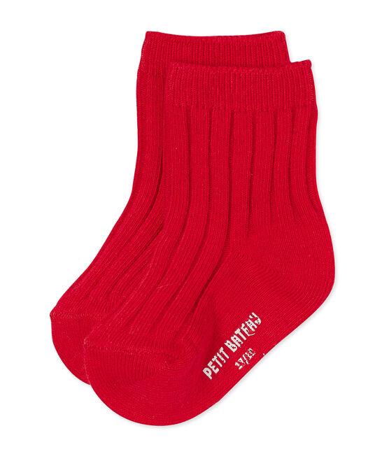 Chaussettes bébé mixte rouge Froufrou