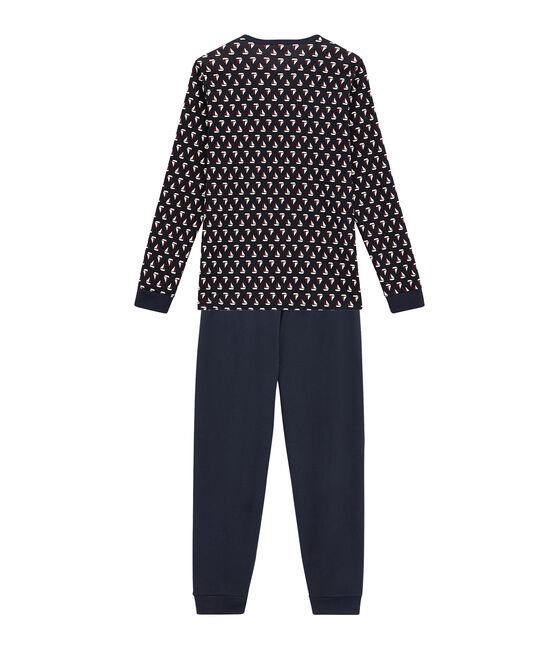 Pyjama garçon bleu Smoking / blanc Multico