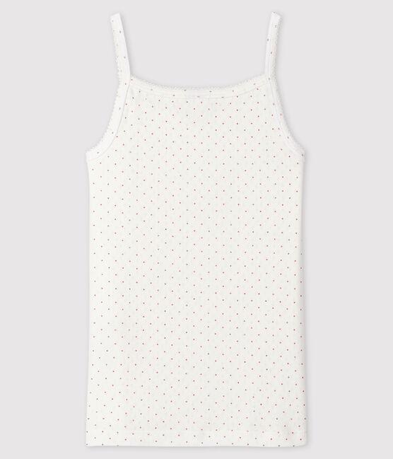 Chemise à bretelles fantaisie Femme blanc Marshmallow / rose Charme