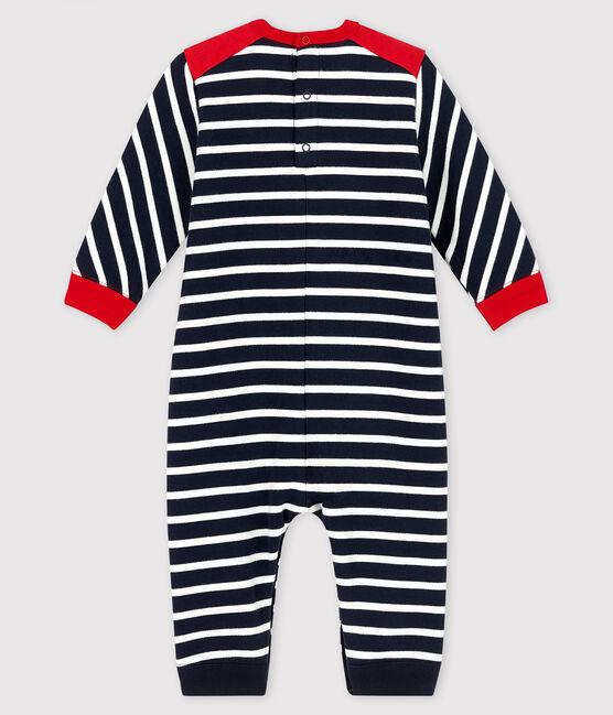 Combinaison longue bébé garçon bleu Smoking / blanc Marshmallow