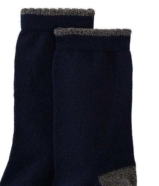Chaussettes enfant fille bleu Smoking