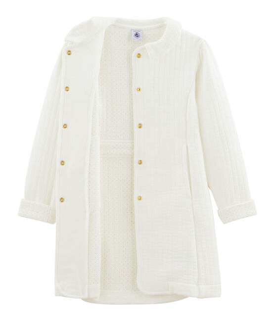 Manteau enfant fille blanc Marshmallow