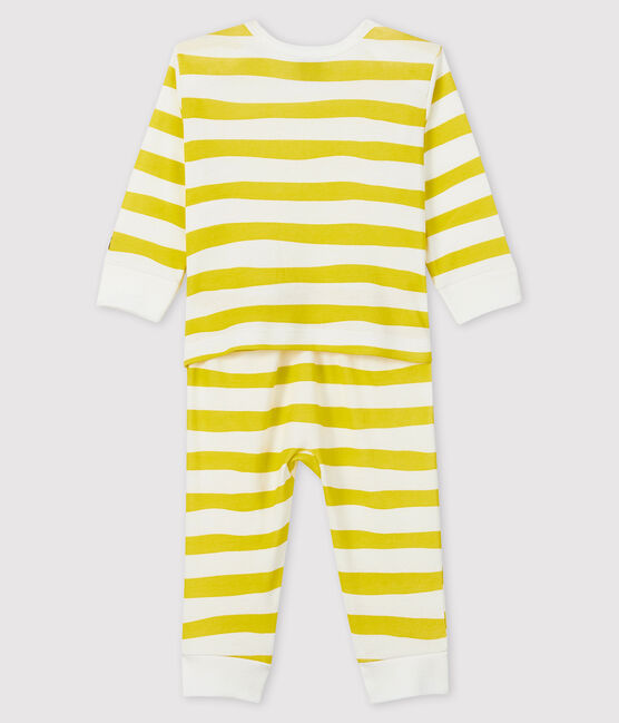 Dors-bien sans pression bébé en côte jaune Ble / blanc Marshmallow