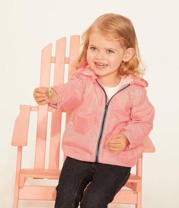 Coupe-vent rayé bébé mixte rose Petal / bleu Crystal