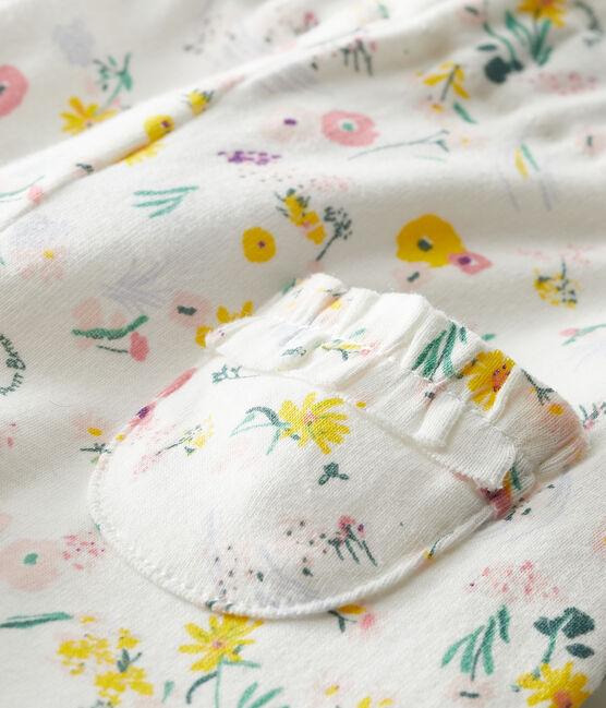 Pantalon bébé fille imprimée blanc Marshmallow / blanc Multico