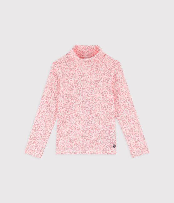Sous-pull à imprimé enfant garçon fille blanc Marshmallow / rose Gretel