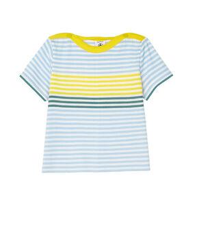 Tee shirt rayé bébé garçon blanc Marshmallow / blanc Multico