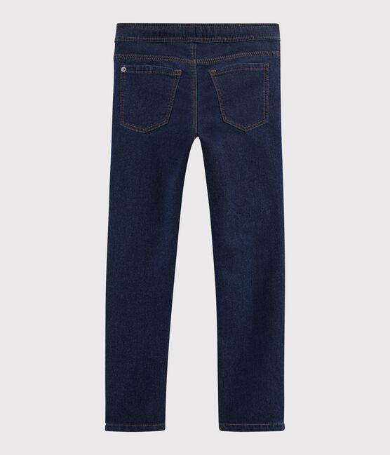Pantalon en molleton denim enfant garçon bleu Denim Bleu Fonce