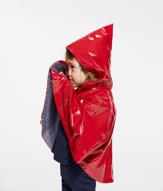 Cape de pluie vernis bébé fille rouge Terkuit