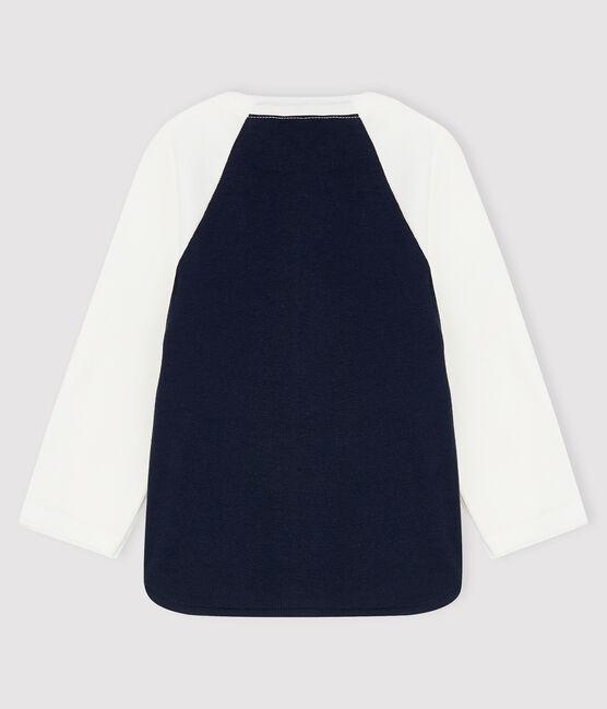 Tee-shirt bébé garçon bleu Smoking / blanc Marshmallow