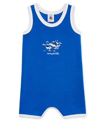 Combicourt bébé garçon en côte bleu Riyadh