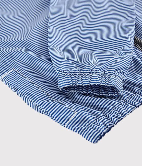 Coupe vent en polyester recyclé enfant fille - garçon bleu Surf / blanc Marshmallow