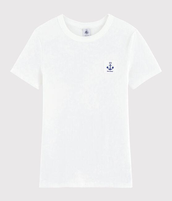 T-shirt imprimé Cœur Femme blanc Ecume