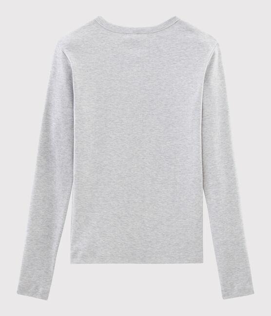 T-shirt col rond iconique en coton Femme gris Beluga