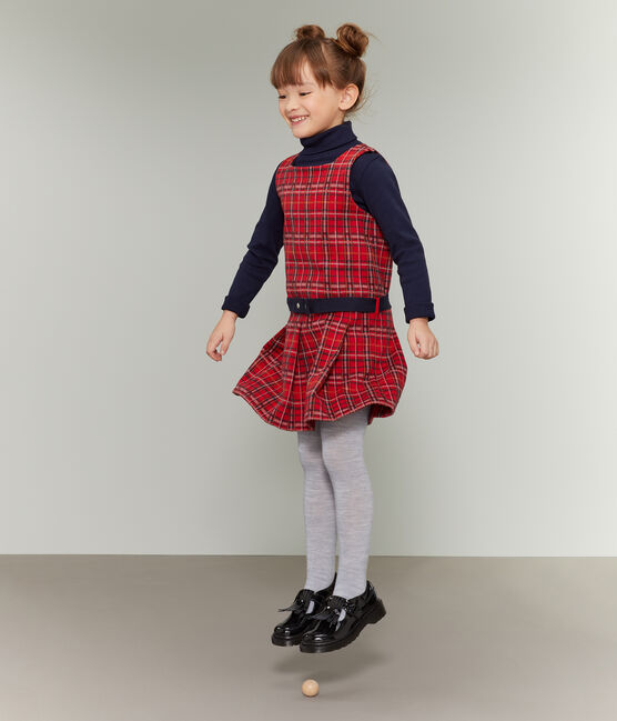 Robe sans manches enfant fille rouge Terkuit / blanc Multico