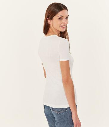 Tee-shirt manches courtes uni femme