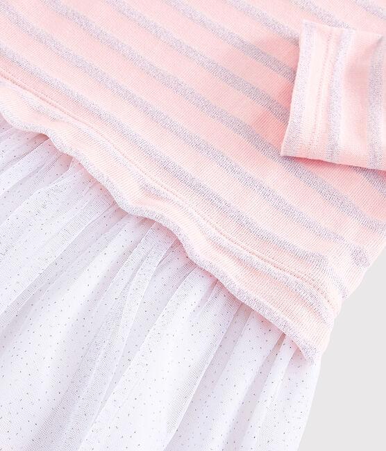 Robe manches longues enfant fille MINOIS/ARGENT