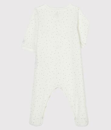 Dors-bien blanc à imprimé étoiles en velours blanc Marshmallow / blanc Multico