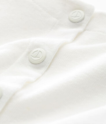 Cardigan bébé fille en coton/lin blanc Marshmallow