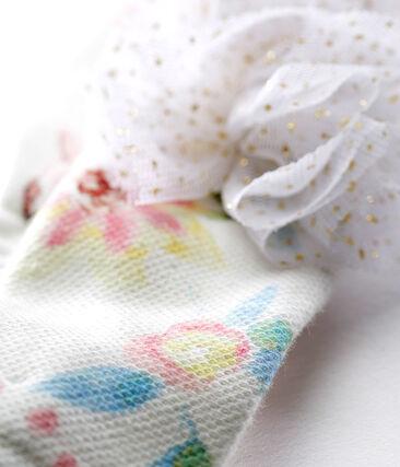 Bandeau à pompons bébé fille