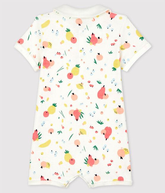 Combicourt fruits bébé fille en coton blanc Marshmallow / blanc Multico