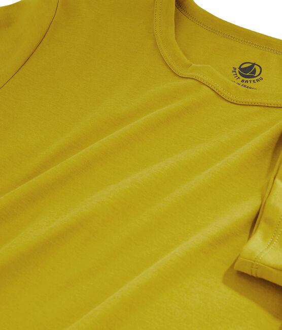Tee shirt coton Sea island femme jaune Bamboo