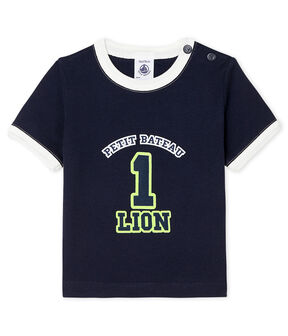 Tee shirt manches courtes bébé garçon bleu Smoking