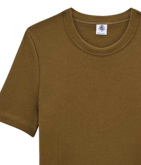 Tee shirt femme manches courtes marron Autumn