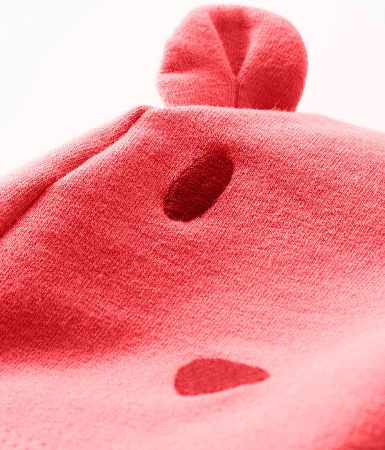 Bonnet bébé mixte en molleton élasthanne rose Groseiller
