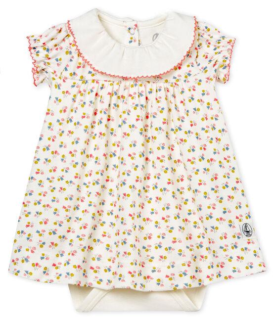 Robe body imprimée bébé fille blanc Marshmallow / blanc Multico