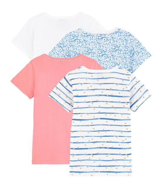 Pochette surprise de 4 Tee-shirts manches courtes fille lot .