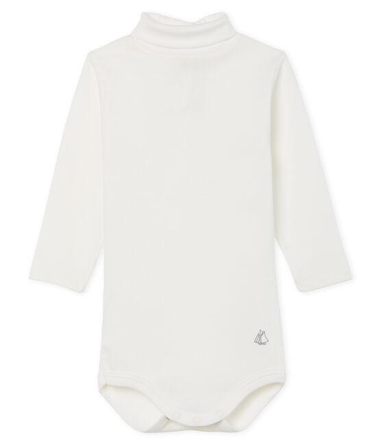 Body manches longues col roulé bébé mixte blanc Marshmallow