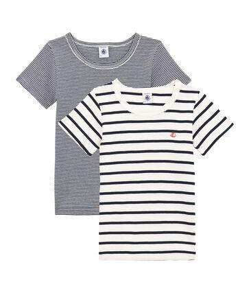 Duo de tee-shirts manches courtes petite fille