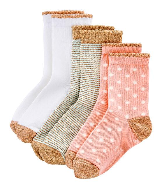 Boite 3 paires de chaussettes enfant fille lot .