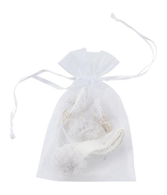 Lot d'accessoires pour cheveux blanc Marshmallow / jaune Dore