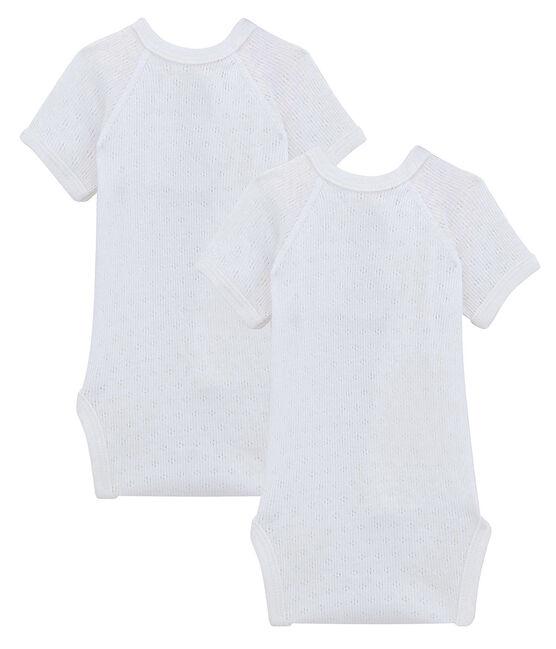 Duo de bodies manches courtes bébé lot .