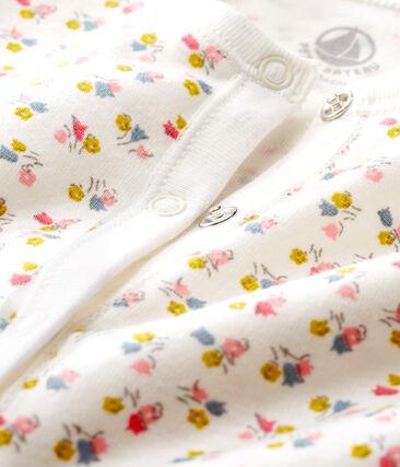 Combisac bébé en côte blanc Marshmallow / blanc Multico