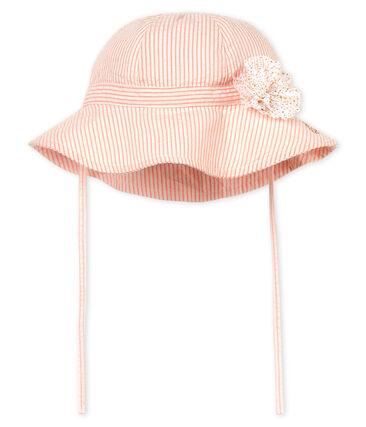 Chapeau bébé fille rayé