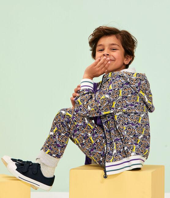 Pantalon maille enfant garçon blanc Marshmallow / blanc Multico