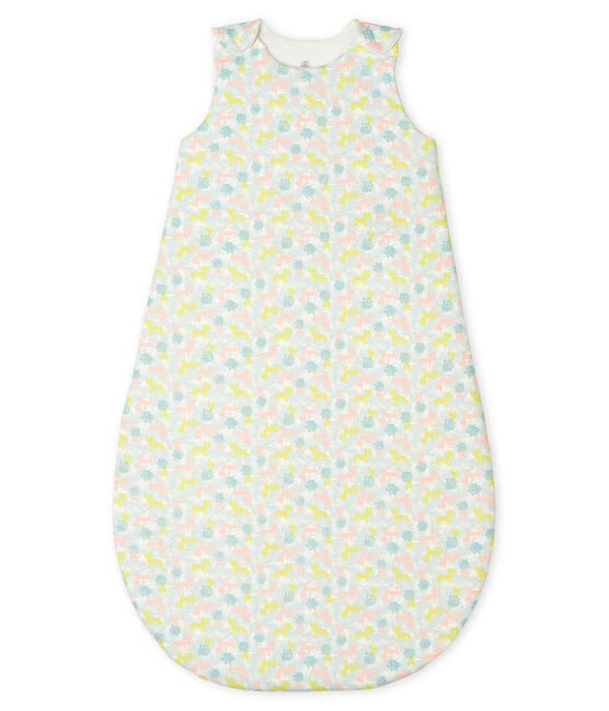 Gigoteuse bébé en côte blanc Marshmallow / rose Gretel