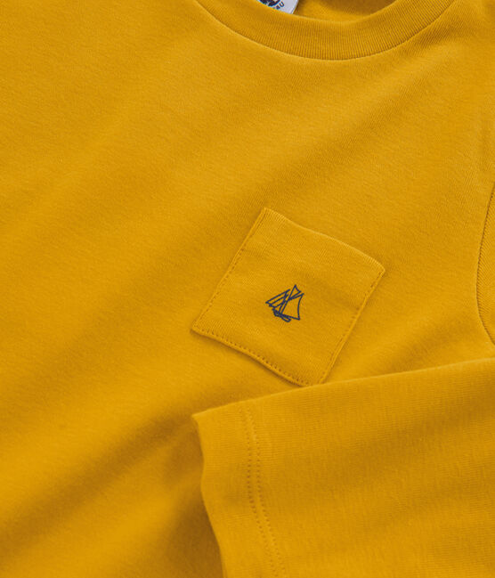 Tee-shirt manches longues enfant garçon jaune Boudor
