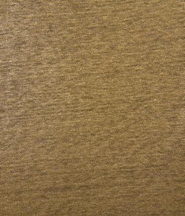 T-shirt femme manches longues en lin irisé marron Shitake / jaune Or