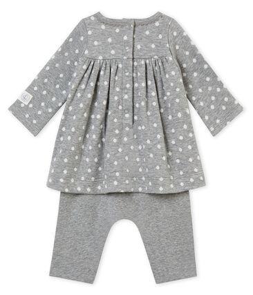 Robe legging bébé fille gris Subway / blanc Multico