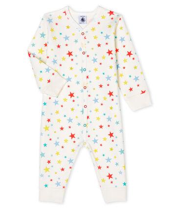 Dors bien sans pieds bébé garçon en tubique blanc Marshmallow / blanc Multico