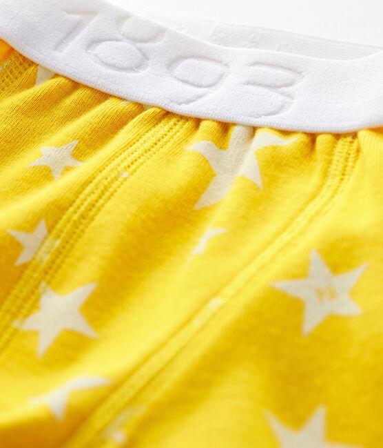 Boxer petit garçon jaune Honey / blanc Marshmallow