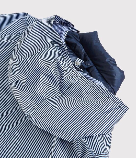 Coupe-vent 3 en 1 recyclé Femme bleu Smoking / blanc Marshmallow