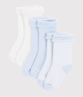 Trio de chaussettes bébé en tricot lot .