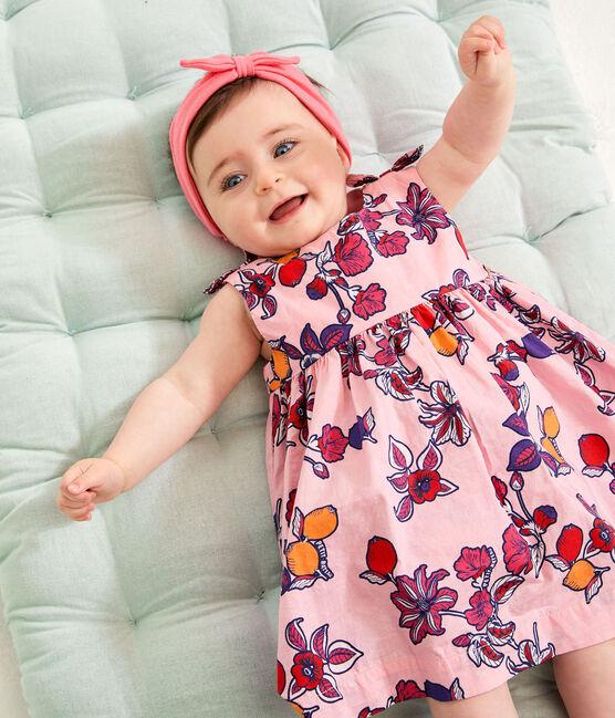 Robe sans manches imprimée bébé fille rose Merveille / blanc Multico