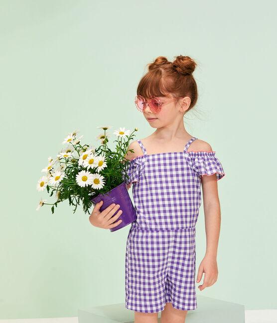 Combinaison enfant fille violet Real / blanc Marshmallow